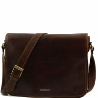 Сумка-мессенджер Tuscany Leather Messenger Double Brown