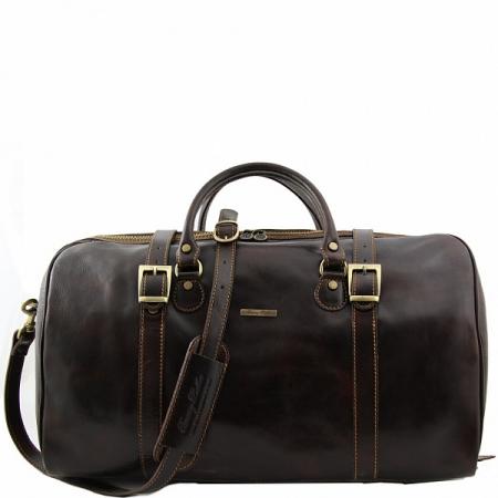 Дорожная сумка Tuscany Leather Berlin Dark Brown Большая