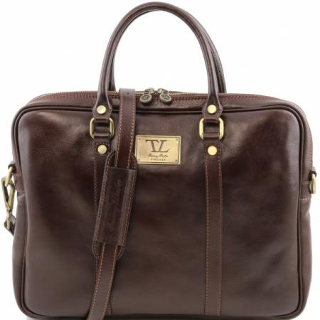 Портфель Tuscany Leather Prato Dark Brown