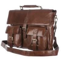 Портфель Ashwood leather James Chestnut Brown
