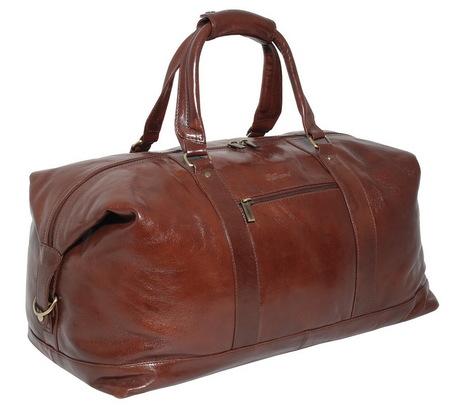 Дорожная сумка Ashwood Leather Lewis 2081 chestnut brown