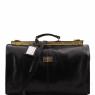 Дорожная сумка саквояж Tuscany Leather Madrid Black Маленькая