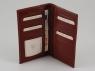 Эксклюзивный вертикальный кожаный бумажник двойного сложения Tuscany Leather Dark Brown