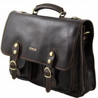 Портфель Tuscany Leather Modena Dark Brown Большой