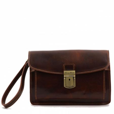 Борсетка Tuscany Leather Max Brown