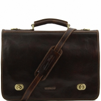 Портфель Tuscany Leather Siena Dark Brown