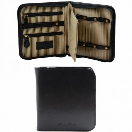 Эксклюзивный дорожный кожаный футляр для часов Tuscany Leather Black