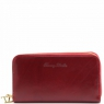 Эксклюзивный кожаный бумажник для женщин Tuscany Leather Red