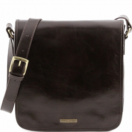 Сумка через плечо Tuscany Leather Messenger Dark Brown