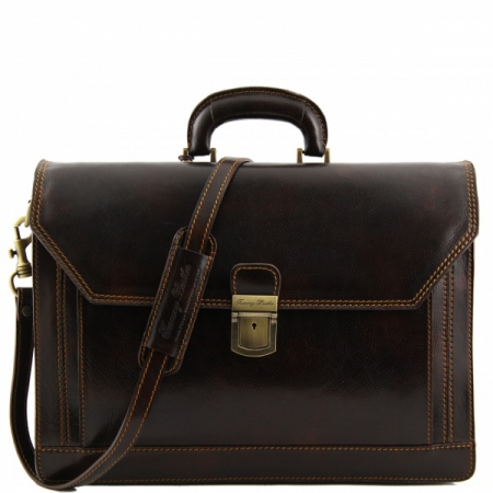 Портфель Tuscany Leather Roma Dark Brown