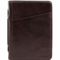 Папка-портфель Tuscany Leather Claudio Dark Brown