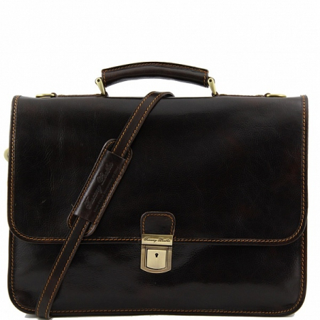Портфель Tuscany Leather Torino Dark Brown