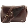 Сумка-мессенджерTuscany Leather TL Messenger Dark Brown Большая