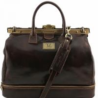 Дорожная сумка-саквояж Tuscany Leather Barcelona Dark Brown