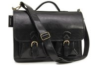 Кожаный портфель Ashwood Leather 8190 black