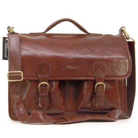 Кожаный портфель Ashwood Leather 8190 chestnut brown