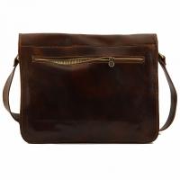 Сумка-мессенджер Tuscany Leather Messenger Double Brown