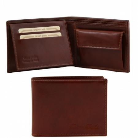 Эксклюзивный кожаный бумажник Tuscany Leather Brown