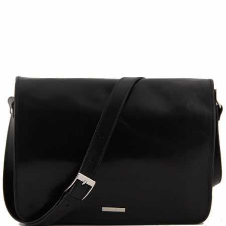Сумка-мессенджер Tuscany Leather Messenger Double Black
