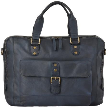 Деловая сумка Ashwood Leather 1334 navy