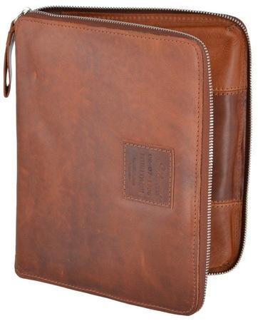 Кожаная папка Ashwood Leather 1660 chestnut