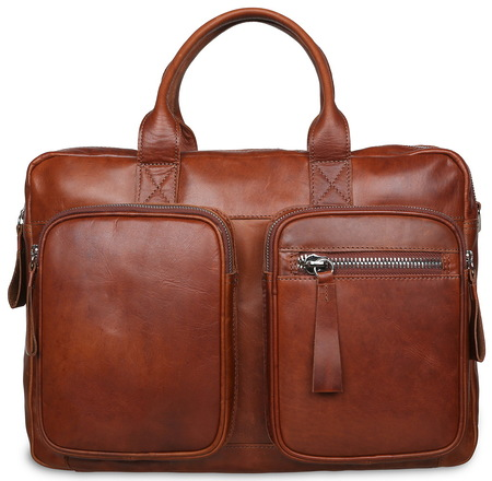 Деловая сумка Ashwood Leather 1662 chestnut