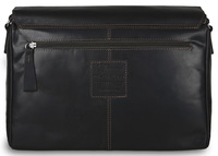 Деловая сумка через плечо Ashwood Leather 1664 brown