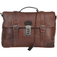 Кожаный портфель Ashwood Leather 4553 cognac