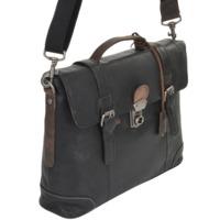 Кожаный портфель Ashwood Leather 4554 black