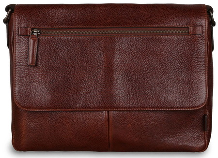 Кожаная сумка Ashwood Leather Blake chestnut brown