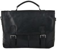 Кожаный портфель Ashwood Leather Elliot black