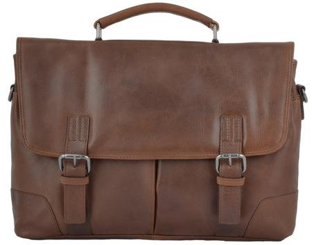 Кожаный портфель Ashwood Leather Elliot tan