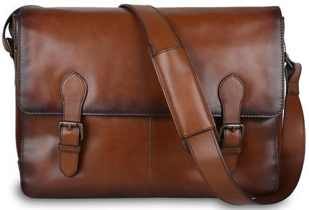 Деловая сумка через плечо Ashwood Leather Ernes tan