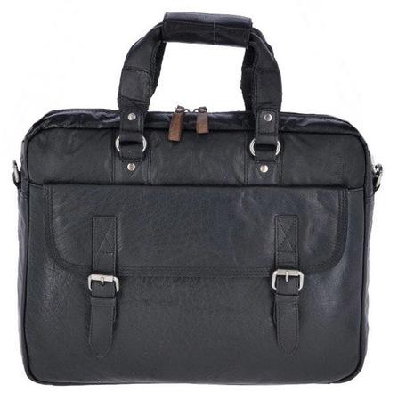 Деловая сумка Ashwood Leather F-83 black
