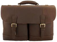 Кожаный портфель Ashwood Leather Henry mud