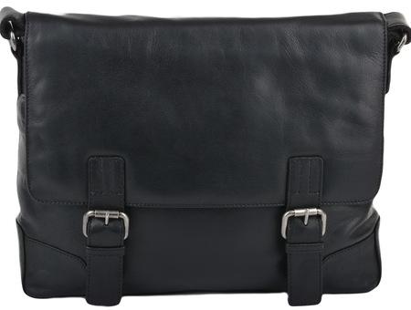 Кожаная сумка Ashwood Leather Oscar black