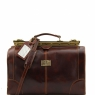 Дорожная сумка саквояж Tuscany Leather Madrid Brown Маленькая