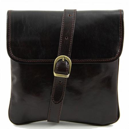 Сумка через плечо Tuscany Leather Joe Dark Brown