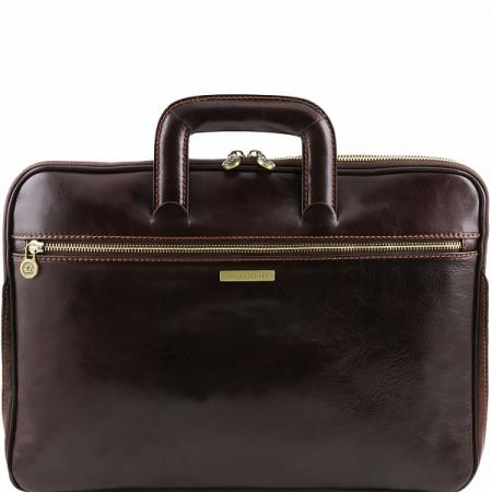 Портфель Tuscany Leather Caserta Dark Brown