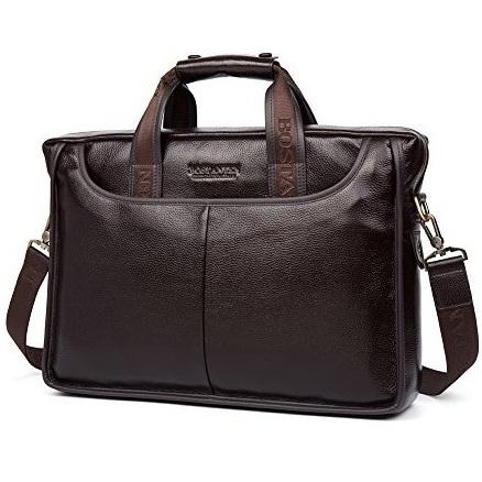 "Деловая сумка Bostanten B10023-17 brown под ноутбук 17"""