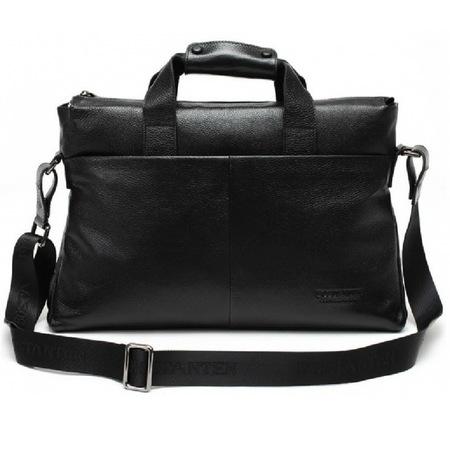 Кожаная сумка Bostanten B10203 black