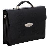 Кожаный портфель B1002-5 croco black
