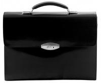 Кожаный портфель B1002-5 glow black