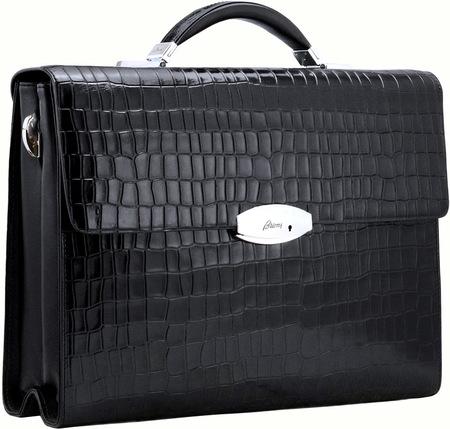 Кожаный портфель B1002-5 reptile black