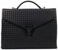 Плетеный портфель BV 2139 black