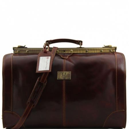 Дорожная сумка саквояж Tuscany Leather Madrid Brown Большая