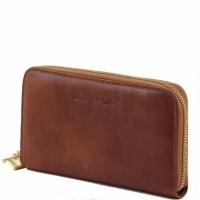 Эксклюзивный кожаный бумажник для женщин Tuscany Leather Honey