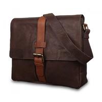 Кожаная сумка-мессенджер Ashwood leather Cyrus Brown/Cognac