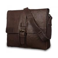 Кожаная сумка-мессенджер Ashwood leather Cyrus Dark Taupe