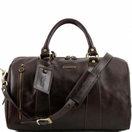 Дорожная кожаная сумка Tuscany Leather TL Voyager Dark Brown Маленькая